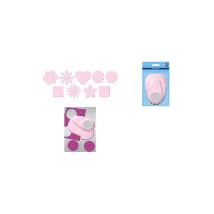 "URSUS Motiv-Locher ""Blume"", jumbo, Farbe: rosa"
