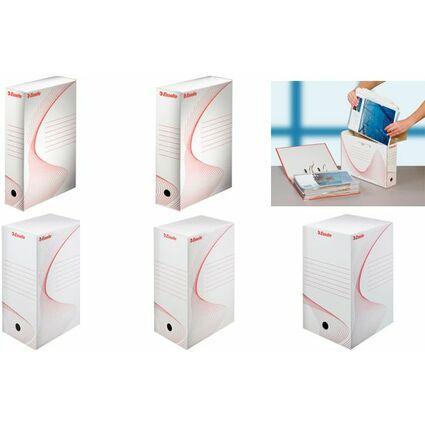 Esselte Archiv-Schachtel, DIN A4, weiß, (B)200 mm
