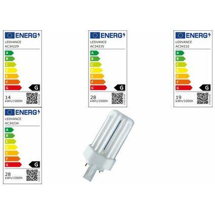 OSRAM Kompaktleuchtstofflampe DULUX T PLUS, 18 Watt, GX24d-2