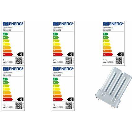 OSRAM Kompaktleuchtstofflampe DULUX F, 18 Watt, 2G10