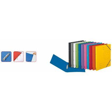 herlitz Ringhefter easyorga, A4, Colorspan-Karton, rot