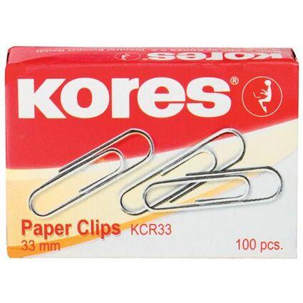 Kores Büroklammern, 25 mm, verzinkt