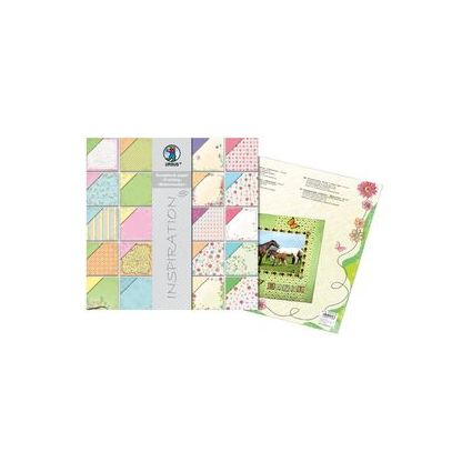 """URSUS Scrapbooking-Papier-Block """"Frühling/Blütenzauber"""""""