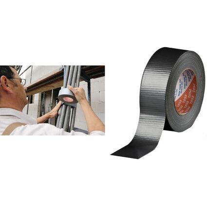 tesa Gewebeband 4662, 48 mm x 50 m, schwarz