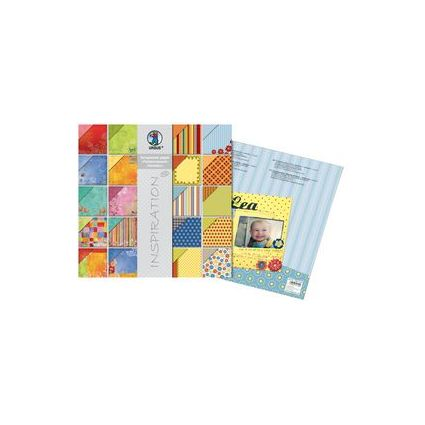 """URSUS Scrapbooking-Papier-Block """"Farbenrausch/Harlekin"""""""