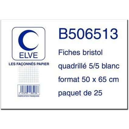 ELVE Karteikarten, 500 x 650 mm, kariert, weiB