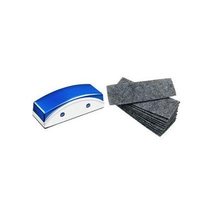 JPC magnetischer Tafelwischer, für Weißwandtafeln, in blau