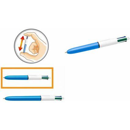 BIC Druckkugelschreiber 4Colours Mini, Strichstärke: 0,32 mm