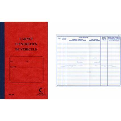 ELVE Carnet d'entretien de véhicule, 32 pages