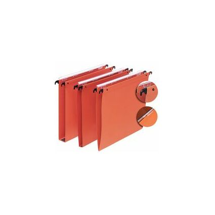 l'oblique Dossiers suspendus Medium, fond V, orange, 220 g