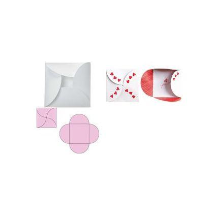 """HEYDA Grußkarten-Set """"ClipClap Blume"""", weiß"""