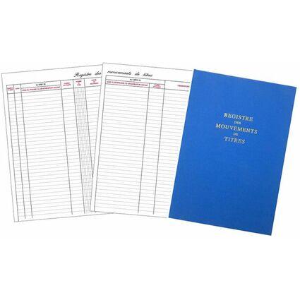 """ELVE Registre """"Mouvements des titres"""", 100 pages, format A4"""