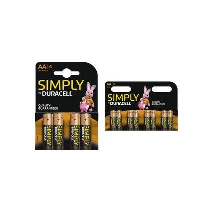"DURACELL Alkaline Batterie ""simply"" Mignon AA, 10er Karton"