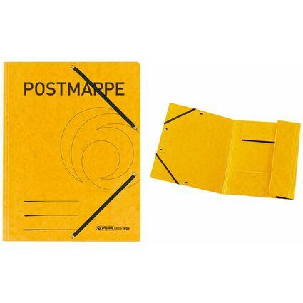 herlitz Postmappe, Colorspan-Karton, DIN A4, gelb