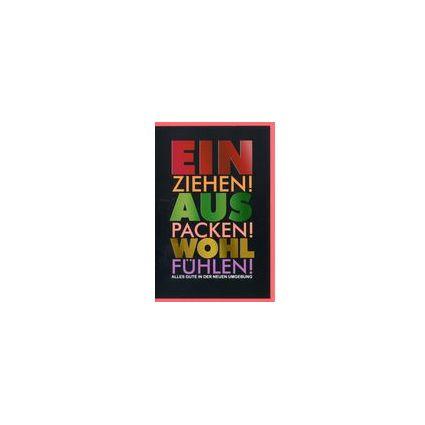 HORN Grußkarte - Ein-/Umzug - Schillernde Schrift