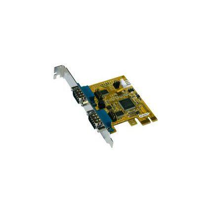 EXSYS Serielle 16C550 RS-232 PCI-Express Karte (MosChip)