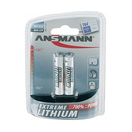 ANSMANN EXTREME LITHIUM Micro AAA (FR03), 1,5V, 2er-Blister