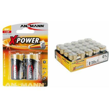 """ANSMANN Alkaline Batterie """"X-Power"""", Baby C, 2er Blister"""