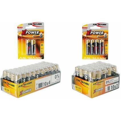 """ANSMANN Alkaline Batterie """"X-Power"""", Mignon AA, 4er Blister"""