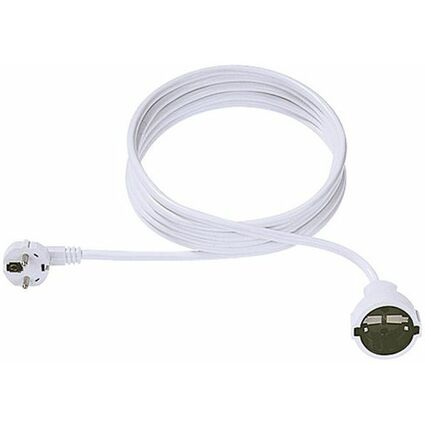 BACHMANN Schutzkontakt Stromverlängerungskabel, 2,0 m, weiß