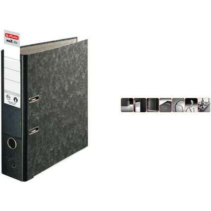 herlitz Ordner maX.file nature pocket, schwarz