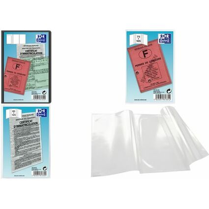 ELBA Ausweishülle, PVC, 3-fach, 0,30 mm, Format: 90 x 135 mm
