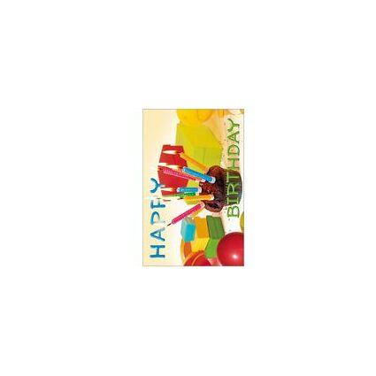 """SUSY CARD Geburtstagskarte """"Muffin mit Kerzen"""""""