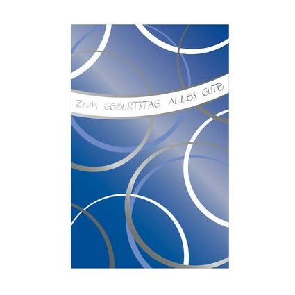 """SUSY CARD Geburtstagskarte """"Schriftzug Happy Birthday"""""""