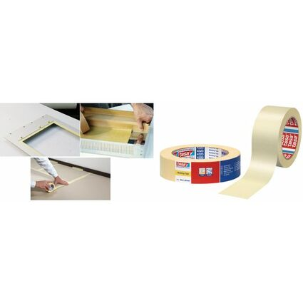 tesa Maler Krepp 4323 Basic Papierabdeckband, 38 mm x 50 m