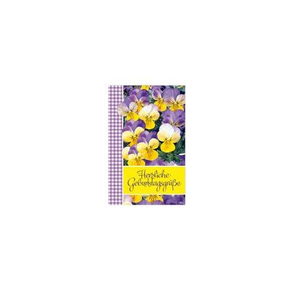 """SUSY CARD Geburtstagskarte """"Stiefmütterchen"""""""