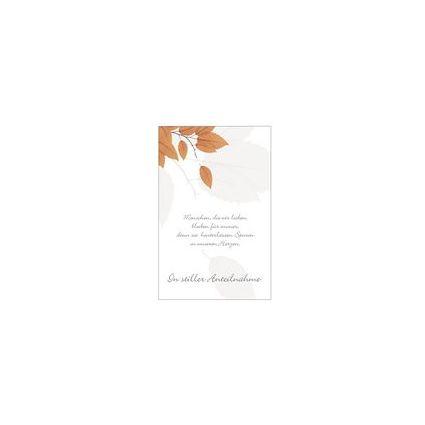 "SUSY CARD Trauerkarte ""Blätter"""