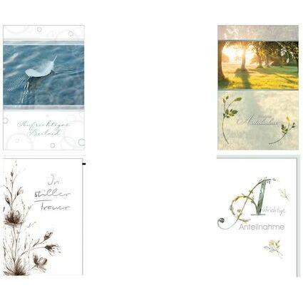 """SUSY CARD Trauerkarte """"Schilfblätter"""""""