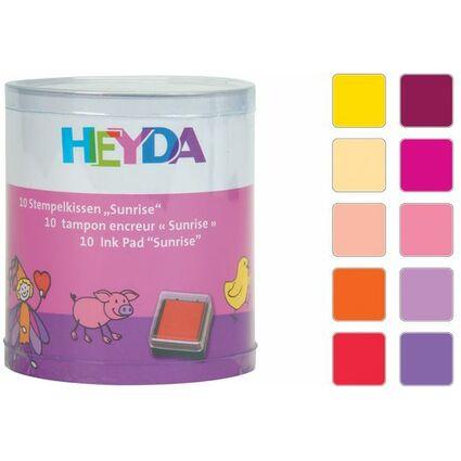 """HEYDA Stempelkissen-Set """"Sunrise"""", Klarsicht-Runddose"""