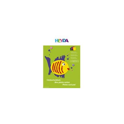 HEYDA Fotokartonblock, DIN A4, 300 g/qm, farbig sortiert