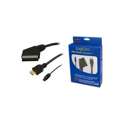 LogiLink Heimkino Anschluss-Set, HDMI, Toslink & Scart Kabel