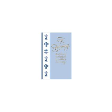 "SUSY CARD Firmungskarte ""blaue Symbole"""