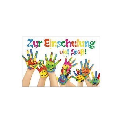"SUSY CARD Schulanfangs-Grußkarte ""bemalte Hände"""