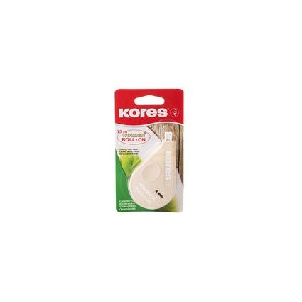 Kores Einweg-Korrekturroller ROLL ON WOODEN, 4,2 mm x 15 m