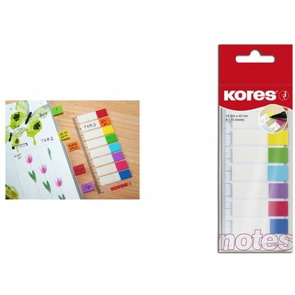 Kores Pagemarker - Folie, 12 x 45 mm, 8 x 15 Blatt