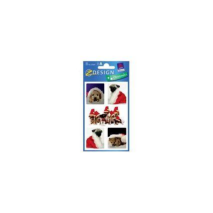"""AVERY Zweckform ZDesign Weihnachts-Sticker """"Hund"""""""