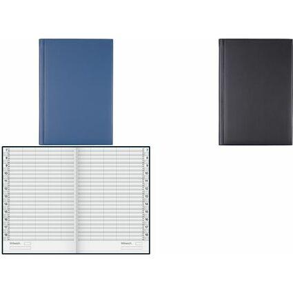 """rido idé Buchkalender """"Ultraplan"""", immerwährend, dunkelblau"""