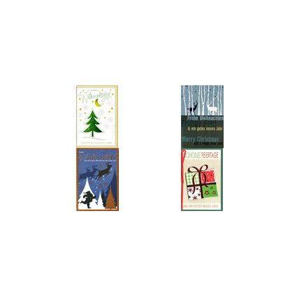 HORN Weihnachtskarte -Tannenbaum mit Glimmer- inkl. Umschlag