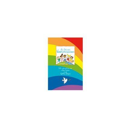 "SUSY CARD Kommunionskarte ""Regenbogenfont Kinder"""