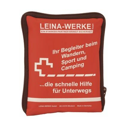 Leina Erste-Hilfe Reise-Set, 21-teilig, rot