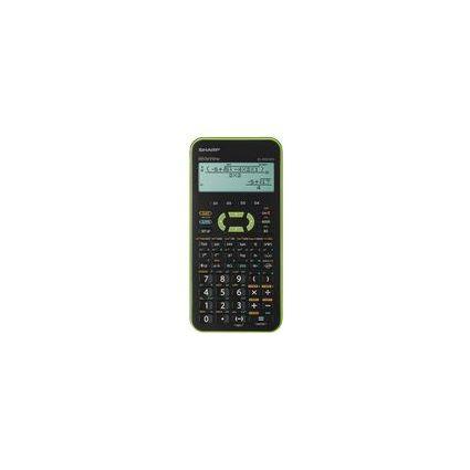 SHARP Schulrechner EL-W531XH, Batteriebetrieb, Farbe: grün