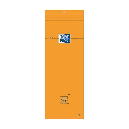 Oxford Notizblock, 74 x 210 mm, kariert, 80 Blatt, orange