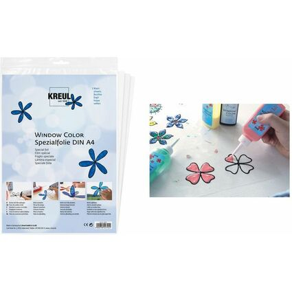 """KREUL Spezialfolie Hobby Line """"Glas Design"""", DIN A4"""