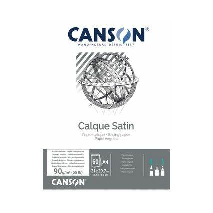 CANSON Transparentpapierblock, DIN A3, 90 g/qm,
