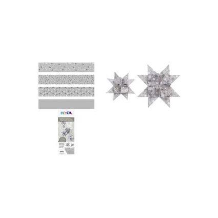HEYDA Faltpapierstreifen für Fröbelsterne, silber