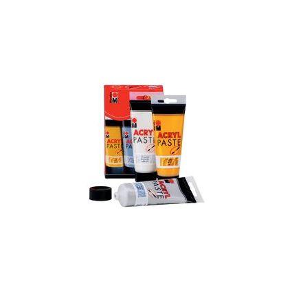 Marabu Acrylpaste, Starter Set 3 x 100 ml